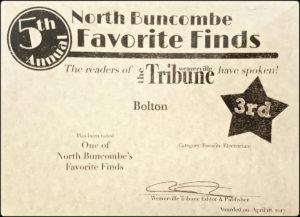 The Weaverville Tribune 5th Annual North Buncombe Favorite Finds
